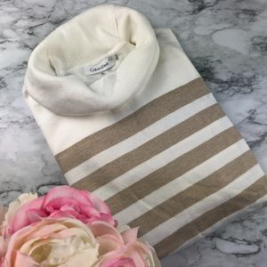 {NEW} Calvin Klein Thin Knit Cowl Neck Sweater